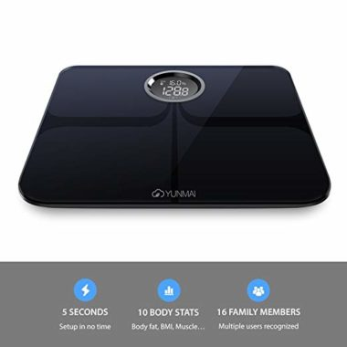 Body fat yunmai premium smart scale details Review
