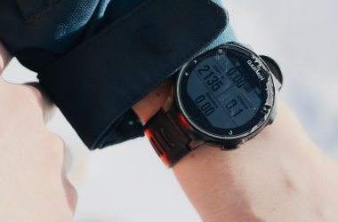 Garmin Watch in Hand