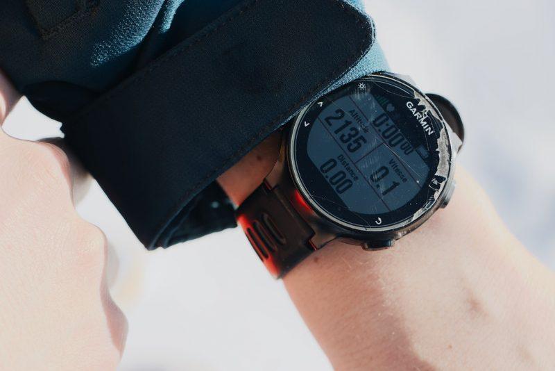 Garmin Watch in Hand