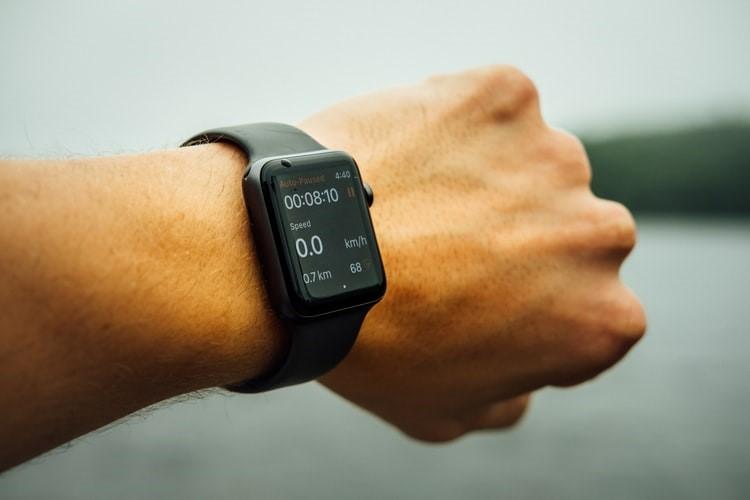 Smartwatch on Man Hand